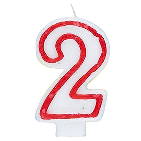 Amazon.com: Vela de cumpleaños, Número 2, Multicolor ...