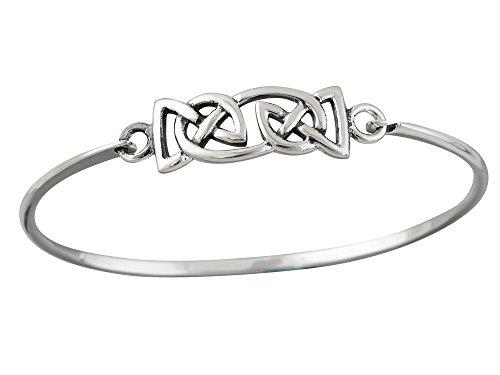 Sterling Silver Celtic Knot Trinity Bangle Bracelet