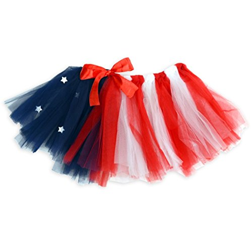 Gone For a Run Runners Premium Tutu Lightweight | One Size Fits Most | Colorful Running Skirts | American Flag ()