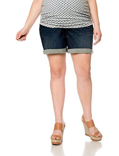 Motherhood Plus Size Secret Fit Belly(r) Embellished Pocket Maternity Bermuda Shorts