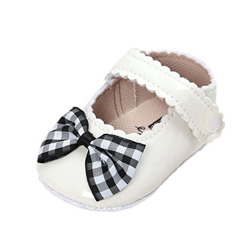 for 0-18 Months Baby, Bowknot Vintage Princess Baby Shoes Soft Soles Crib Shoes Sneakers by Williant (Black, 0-6 months)