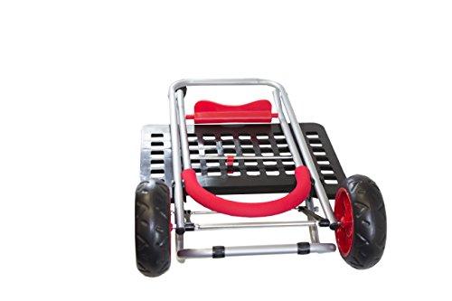 Bigger Mighty Max Dolly Cart, Red Handtruck Hardware Garden Utilty Cart
