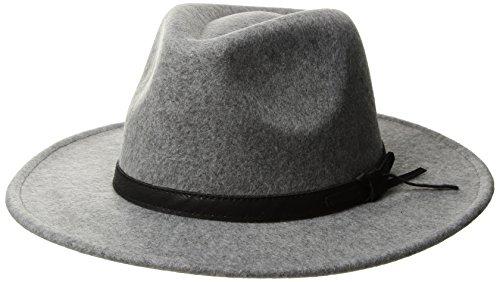 U.S. Polo Assn. Women's Lightweight Felt Panama Hat, Light Grey, One Size