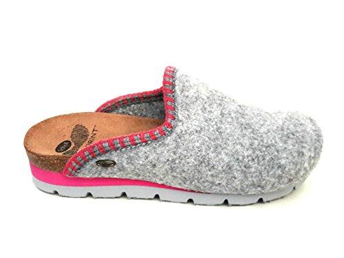 Scholl - Zapatillas de estar por casa de Fieltro para mujer gris gris