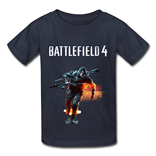 Price comparison product image QMY Kid's Cool Battlefield 4 Soldier T-shirts Size XL Navy