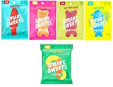 SmartSweets, Gummy Candy Variety of 5 (Peach Rings, Sweet Fish, Sour Blast Buddies, Fruity Gummy Bears, Sour Gummy Bears) Free of Sugar Alcohols and No Artificial Sweeteners