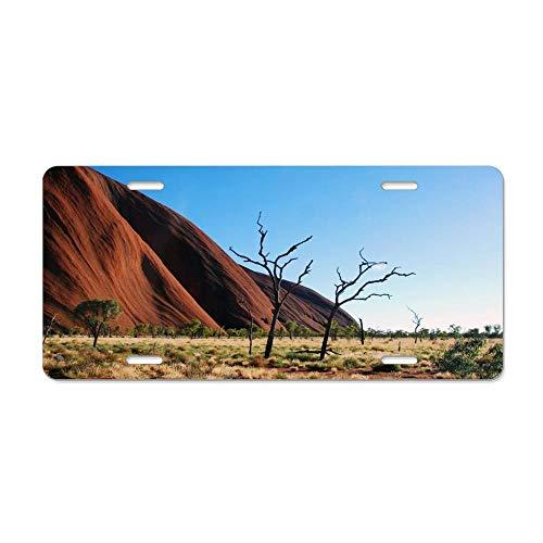 Kingsinoutdoor Uluru-Kata Tjuta National Park Auto Truck Car Front Tag Aluminum Metal License Plate Frame Cover US Vanity Gift 12 x 6 Inch