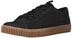 CK Jeans Men's Jerome Denim Suede Fashion Sneaker, Black, 7 M US