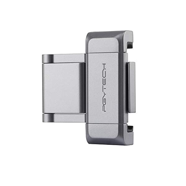 Hensych per PGYTECH per Osmo Pocket/Osmo Pocket 2 Phone Holder +,Porta telefono in alluminio pieghevole Plus Set di parentesi per telefono cellulare (larghezza≤90mm) 2 spesavip