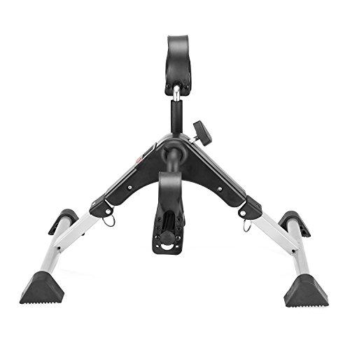 MOMODA Stationary Cycle Pedal Exerciser Desk Exercise Bike with LCD Monitor Foldable (Black/Grey) by MOMODA (Image #2)