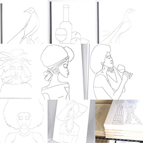 Painting Party Coloring Canvas - Bulk Pack - 10 Pieces from Happiness International