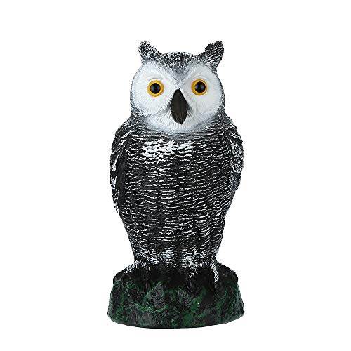 SUJING Owl Decoy, Fake Owl Decoy Scarecrow Deterrent Pest Crow Bird Control Repellents Garden Protectors