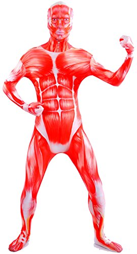 Second Skin Muscle Costume (VSVO Spandex Muscle Costume (Large, Red))
