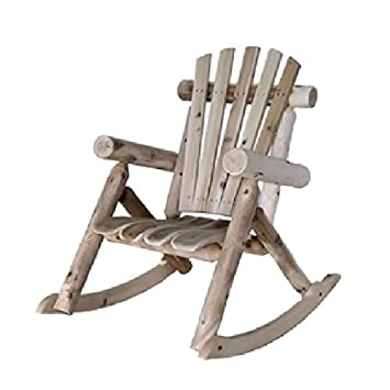 Amazoncom Weather Resistant Cedar Log Rocking Chair Adirondack