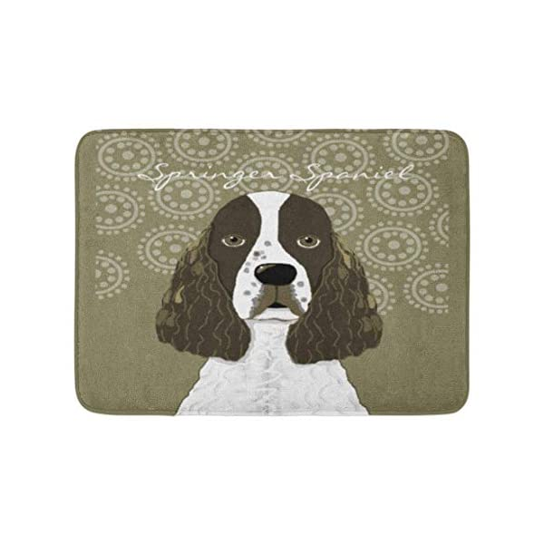SPXUBZ English Springer Spaniel Brown White Non Slip Entrance Rug Outdoor/Indoor Durable and Waterproof Machine Washable Door mat Size:18x30 inch 1