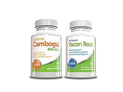 Cleanse Weight Loss Kit-Garcinia Cambogia 180 Capsules & Yacon Cleanse Pill,60 Capsules, Best Cleanse for Weight Loss (Value Size)