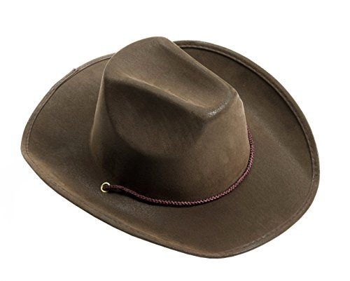Forum Novelties Men's Novelty Adult Suede Cowboy Hat, Brown, One Size -