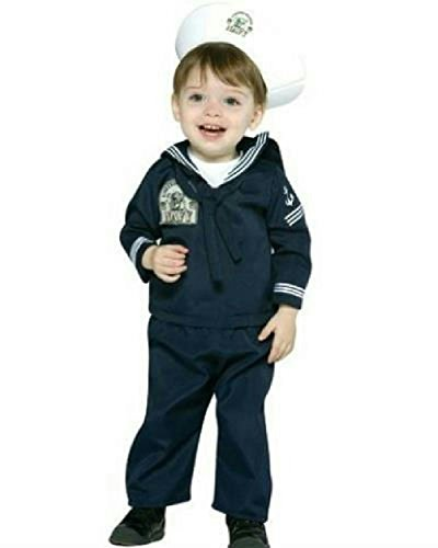 Sailor Costume Dance (Navy Sailor Military Soldier Uniform Infant Costume 6-12 months)