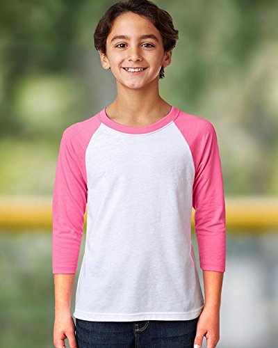 Next Level youth CVC 3/4-Sleeve Raglan Tee (3352) – DiZiSports Store