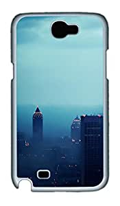 Samsung Note 2 Case Atlanta In Fog PC Custom Samsung Note 2 Case Cover White