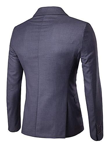 Unie Fit Qiusa Blazer Slim Taille Couleur coloré Violet Gris Bussiness Foncé Unicolore Medium Homme qwT0rTXB