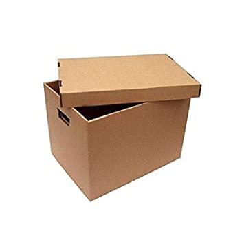 50 cajas de archivo de pared individual de 400 - 330 - 290 mm 50 unidades: Amazon.es: Oficina y papelería