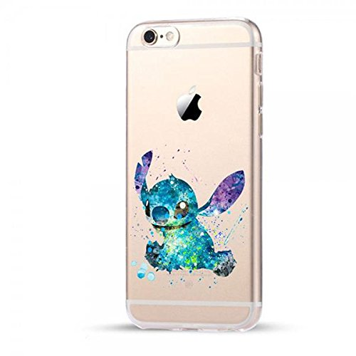 Disney Stitch Schutzhülle Appel Iphone Serie TPU transparent Silikon Case Appel Iphone Cartoon Hülle -AcAccessoires (Iphone 6 Plus/6S Plus)