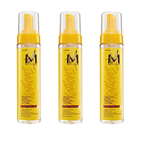 (VALUE PACK OF 3) MOTIONS PROFESSIONAL SALON Versatile Foam Styling Lotion 8.5oz