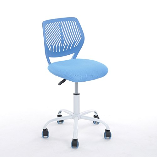Blue Office Task Adjustable Desk Chair Mid Back Home Children Study Chair