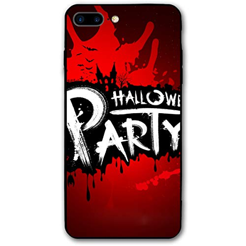 (iPhone 7 Plus Case iPhone 8 Plus Case 5.5 Inch Halloween Party Red Blood Soft Flexible TPU Back Cover Silicone TPU Ultra Thin Phone)