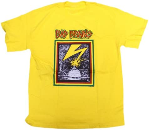 Bad Brains - Camiseta - Unisex de Color Amarillo de Talla Large Capitol Giallo Adulto (Camiseta), Large, Giallo: Amazon.es: Ropa y accesorios