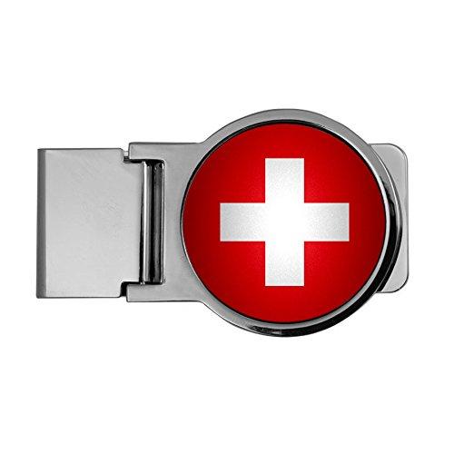 Premium Money Clip - Flag of Switzerland (Swiss) - Round Design