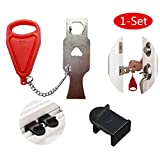 (1 Set) Portable Door Lock, Travel Lock, School Lockdown Lock (1 Set)