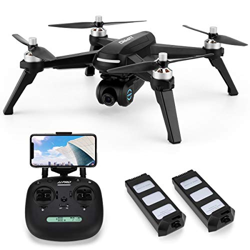 Quality Motor - JJRC X5 FPV Drone with 1080P HD 90°Adjustable Camera Live Video,36mins(18+18) Long Flight Time,GPS Return Home Quadcopter with Brushless Motor,Follow Me, Long Control Range(Black)