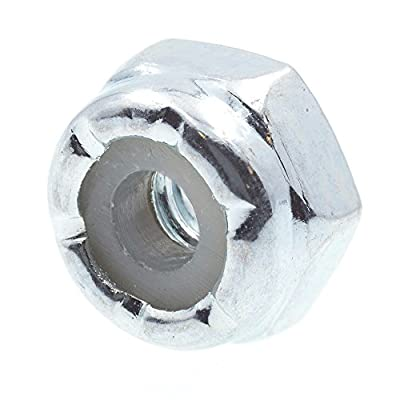 Prime-Line 9074800 Nylon Insert Lock Nuts, #4-40, Grade 2 Zinc Plated Steel, 50-Pack