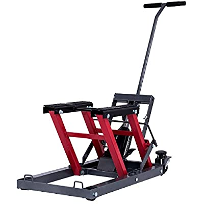 Goplus Motorcycle ATV Scissor Lift Jack Stand Quad Dirt Street Bike Hoist 1500 Lbs