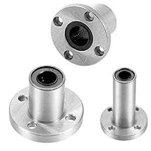 uxcell LMFUU/LUU Series Linear Ball Bearings, Round Flange for 3D Printer or CNC from uxcell
