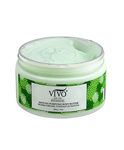 Vivo Per Lei Matcha Body Butter Cream | Moisturizing Body Butter with Green Tea and Shea Butter | Light and Non-Greasy Anti Aging Cream | Luxurious Indulgence with Body Firming - Luxurious Body Cream