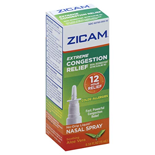 Zicam No Drip Liquid Nasal Gel with Soothing Aloe Vera, Extreme Congestion Relief, 0.5 fl oz (15 ml)