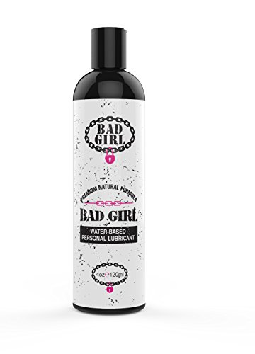 BLOWOUT! Intimate Personal Lubricant - Bad Girl - Premium Water-Based Lube - Safe to Use with Toys and Condoms - Long Lasting, Cleans Easily and Won't Stain Most Fabrics - Paraben Free (4oz) (Today Personal Lubricant)
