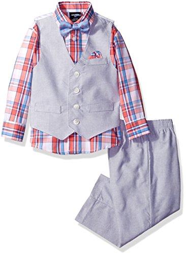 Nautica Boys Chambray Vest Hanky