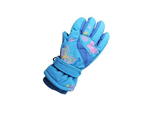 HYSENM保温防風防寒子供用グローブウインタースポーツ(ブルー/L)