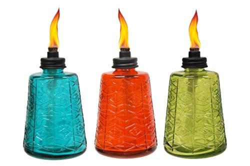 tiki glass table torch
