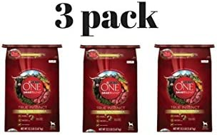 Purina ONE Pack of 2 SmartBlend True Instinct Grain-Free Formula with Real Beef Sweet Potato Dog Food 12.5 lb. Bag