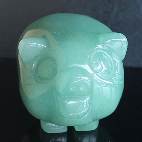 50mm Hand Carved Green Aventurine Pig Figurine Animal Carving