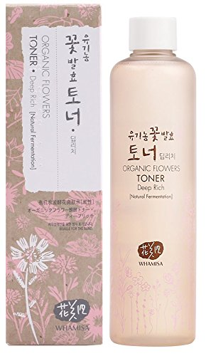 Whamisa Organic Flowers Deep Rich Essence Toner 300ml/10.1 fl.oz. with Deluxe Miniatures by Whamisa (Image #1)