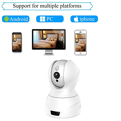 Agazer WiFi Security Camera, 720P HD 1.0 Megapixel Wireless IP/Network Surveillance Home Office Monitoring System, Pan-Tilt Remote Motion Detection Night Vision Mobile and Tablet View (628-100, White)