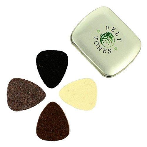 Timber Tones FET-MT-4 Guitar Picks, Felt Tones Mixed, 4 Pack