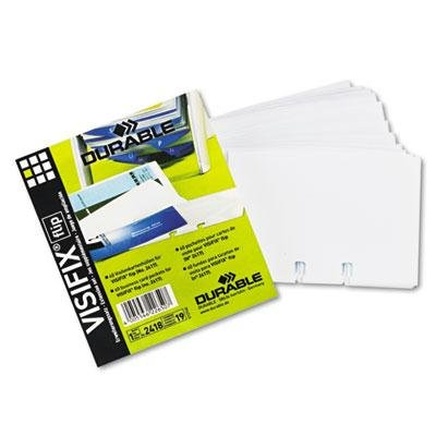 Durable - 3 Pack - Visifix Double-Sided Business Card Refill Sleeves 40/Pack ''Product Category: Binders & Binding Systems/Sheet Protectors Card & Photo Sleeves''