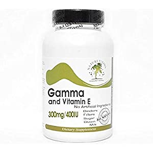 Gamma 300mg and Vitamin E 400IU ~ 200 Capsules – No Additives ~ Naturetition Supplements